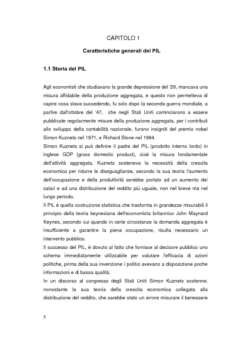 Anteprima della tesi: Limiti del PIL tra sostenibilità e benessere, Pagina 4