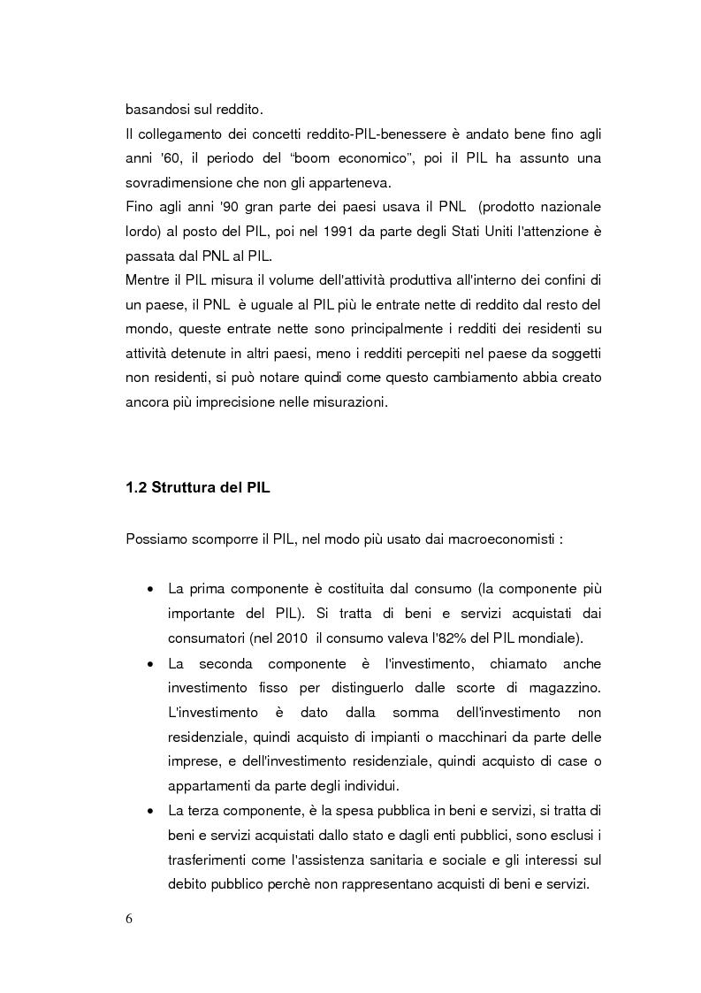 Anteprima della tesi: Limiti del PIL tra sostenibilità e benessere, Pagina 5