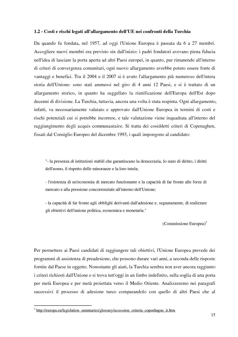 Anteprima della tesi: Prospettive e opportunità per le imprese italiane in Turchia, Pagina 13