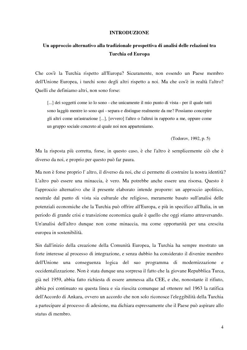 Anteprima della tesi: Prospettive e opportunità per le imprese italiane in Turchia, Pagina 2