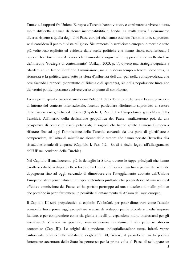 Anteprima della tesi: Prospettive e opportunità per le imprese italiane in Turchia, Pagina 3