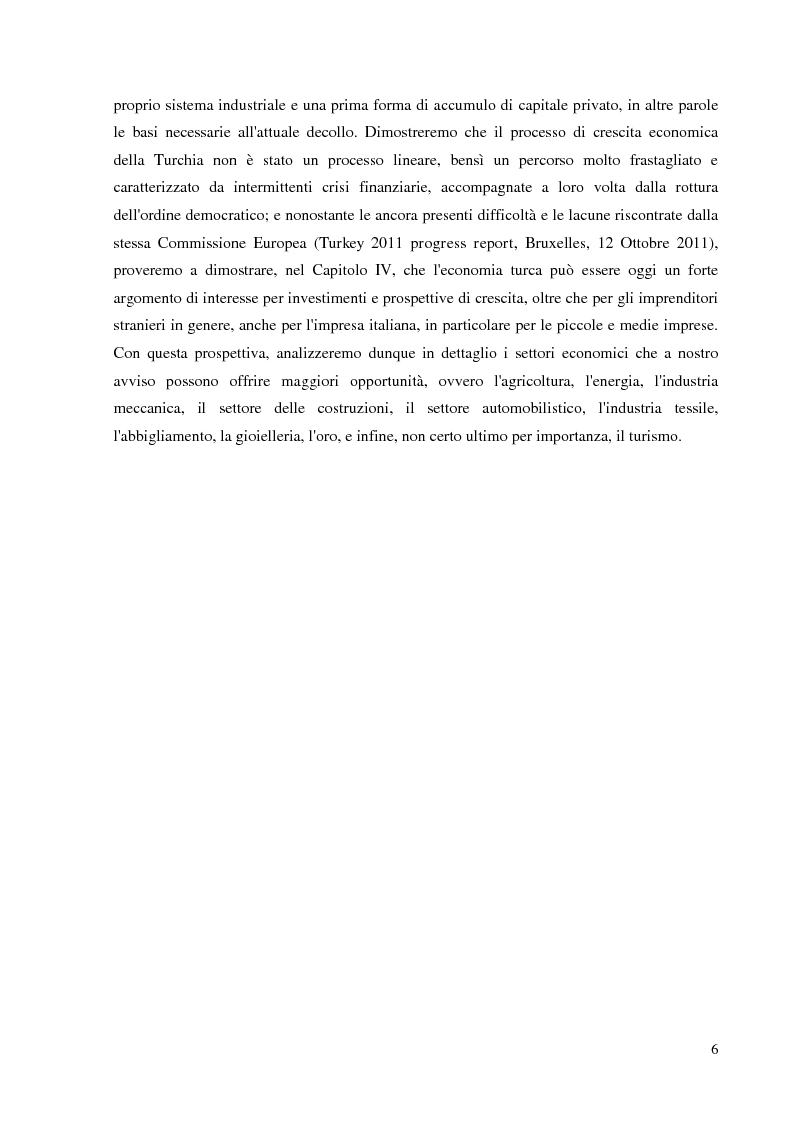 Anteprima della tesi: Prospettive e opportunità per le imprese italiane in Turchia, Pagina 4