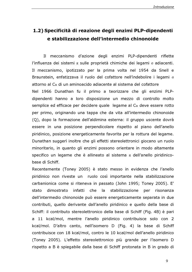 Anteprima della tesi: Analisi cinetica e spettroscopica di glutammato decarbossilasi 1 da Arabidopsis thaliana, Pagina 7
