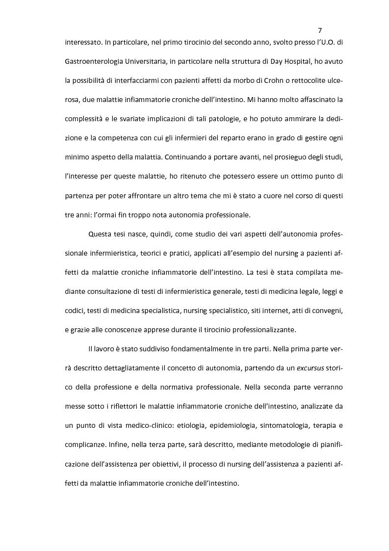 Anteprima della tesi: Nursing delle Malattie Infiammatorie Croniche dell'Intestino: aspetti di autonomia gestionale infermieristica, Pagina 5