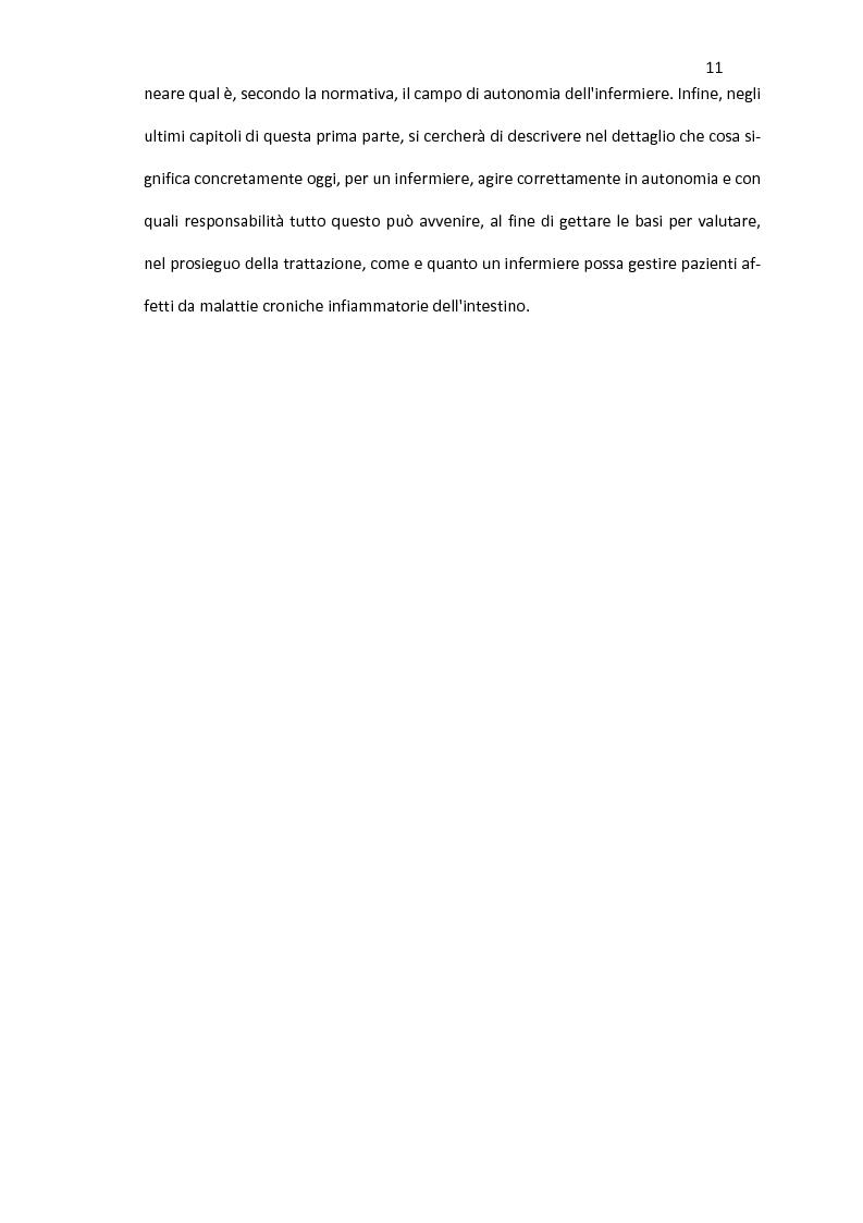 Anteprima della tesi: Nursing delle Malattie Infiammatorie Croniche dell'Intestino: aspetti di autonomia gestionale infermieristica, Pagina 9