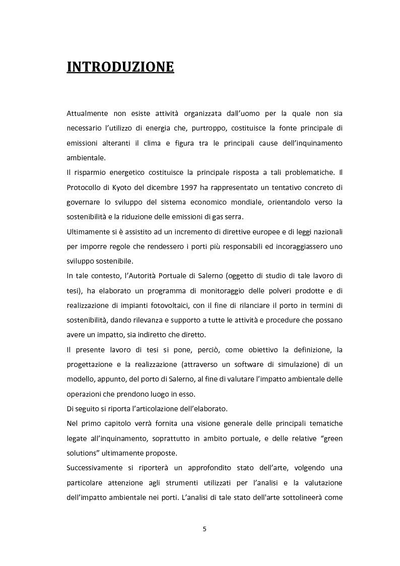 Anteprima della tesi: Modellazione e Simulazione a supporto della Green Logistics nei porti, Pagina 2