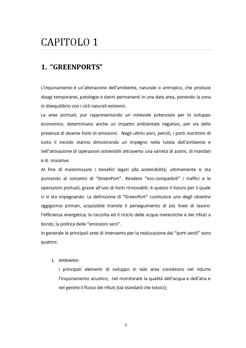 Anteprima della tesi: Modellazione e Simulazione a supporto della Green Logistics nei porti, Pagina 4