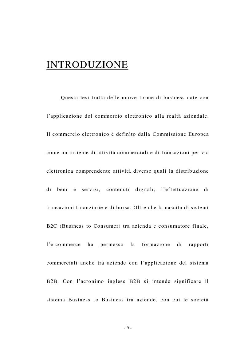 Anteprima della tesi: Il Business to Business nell'era dell'E-commerce, Pagina 2
