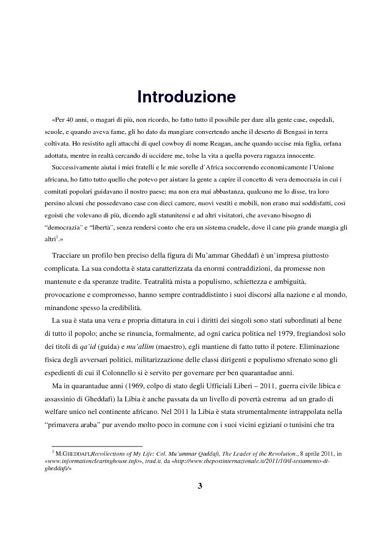 Anteprima della tesi: Gheddafi: la fine di un dittatore - Immagini e parole di una guerra mediatica, Pagina 2