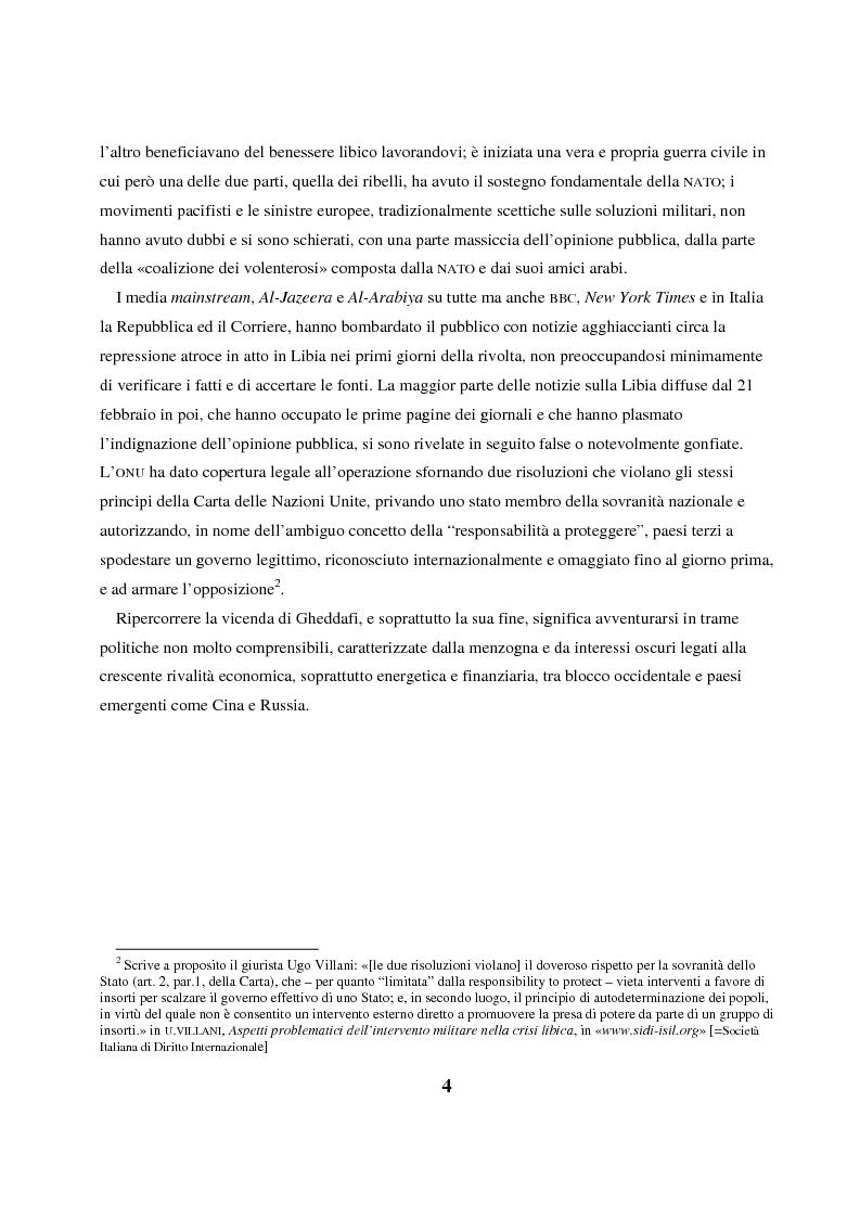 Anteprima della tesi: Gheddafi: la fine di un dittatore - Immagini e parole di una guerra mediatica, Pagina 3