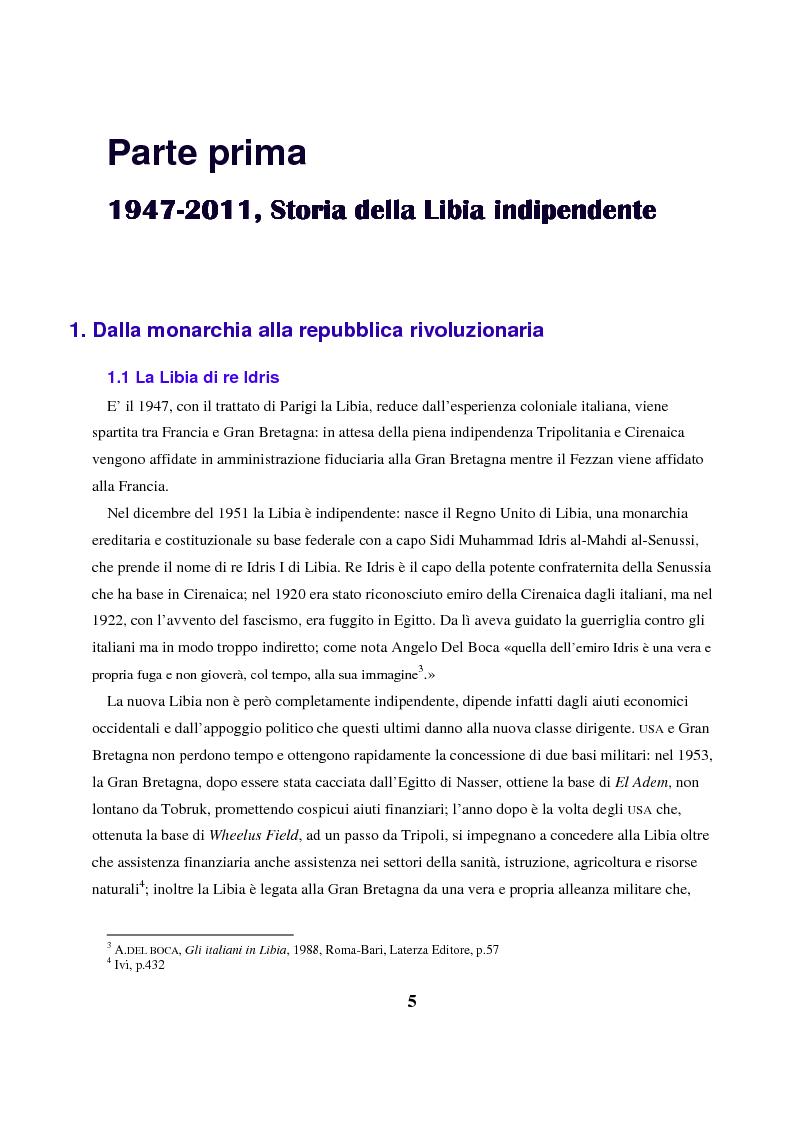 Anteprima della tesi: Gheddafi: la fine di un dittatore - Immagini e parole di una guerra mediatica, Pagina 4