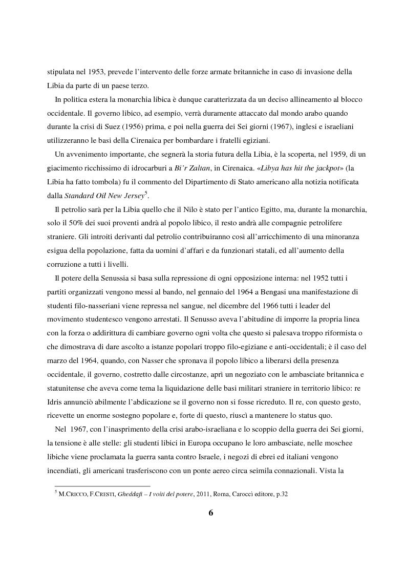 Anteprima della tesi: Gheddafi: la fine di un dittatore - Immagini e parole di una guerra mediatica, Pagina 5