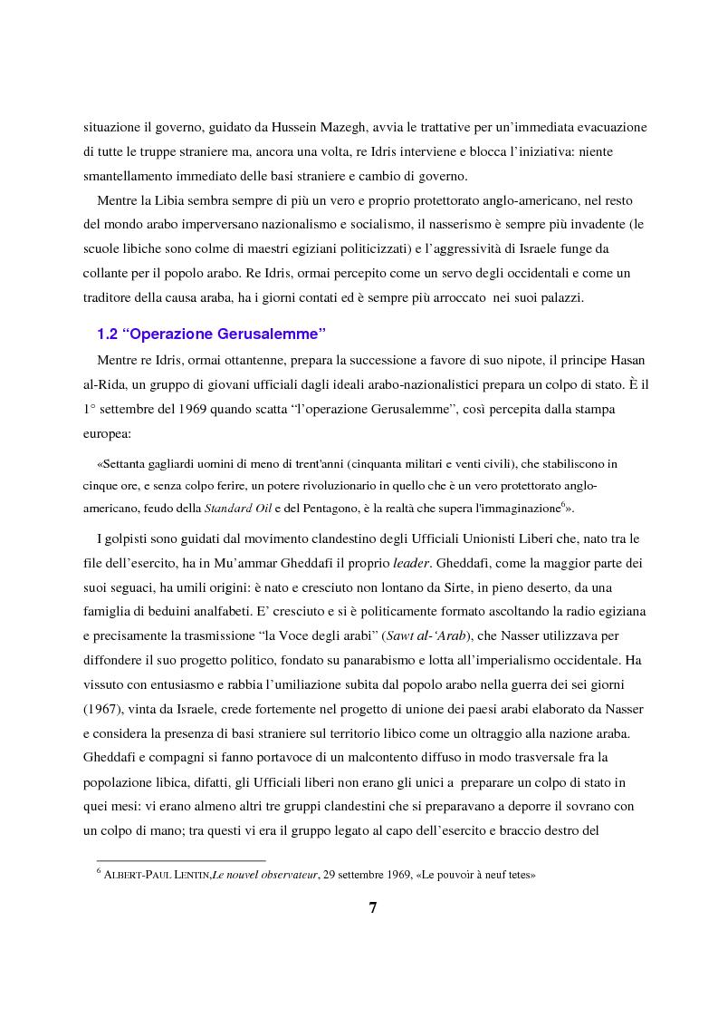 Anteprima della tesi: Gheddafi: la fine di un dittatore - Immagini e parole di una guerra mediatica, Pagina 6