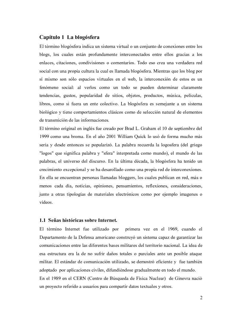 Anteprima della tesi: The social network: reference to a new form of communication - Los social network: referencia de una nueva forma de comunicaciòn, Pagina 4