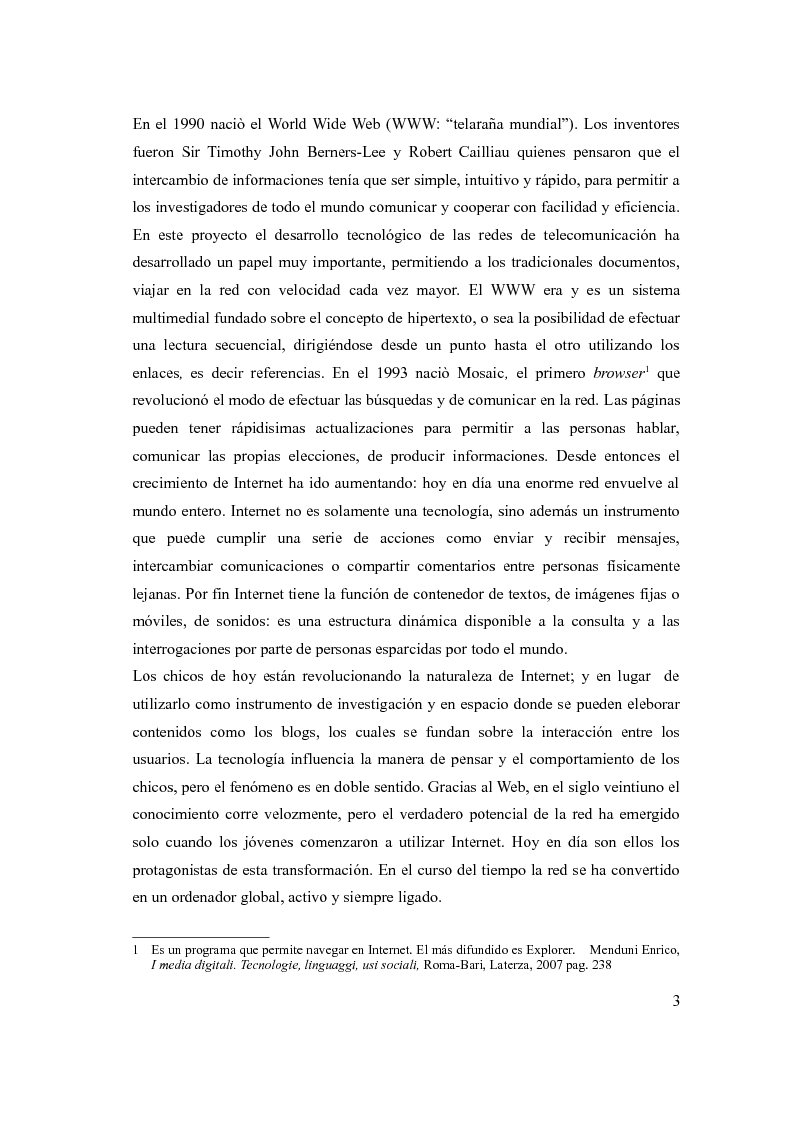 Anteprima della tesi: The social network: reference to a new form of communication - Los social network: referencia de una nueva forma de comunicaciòn, Pagina 5
