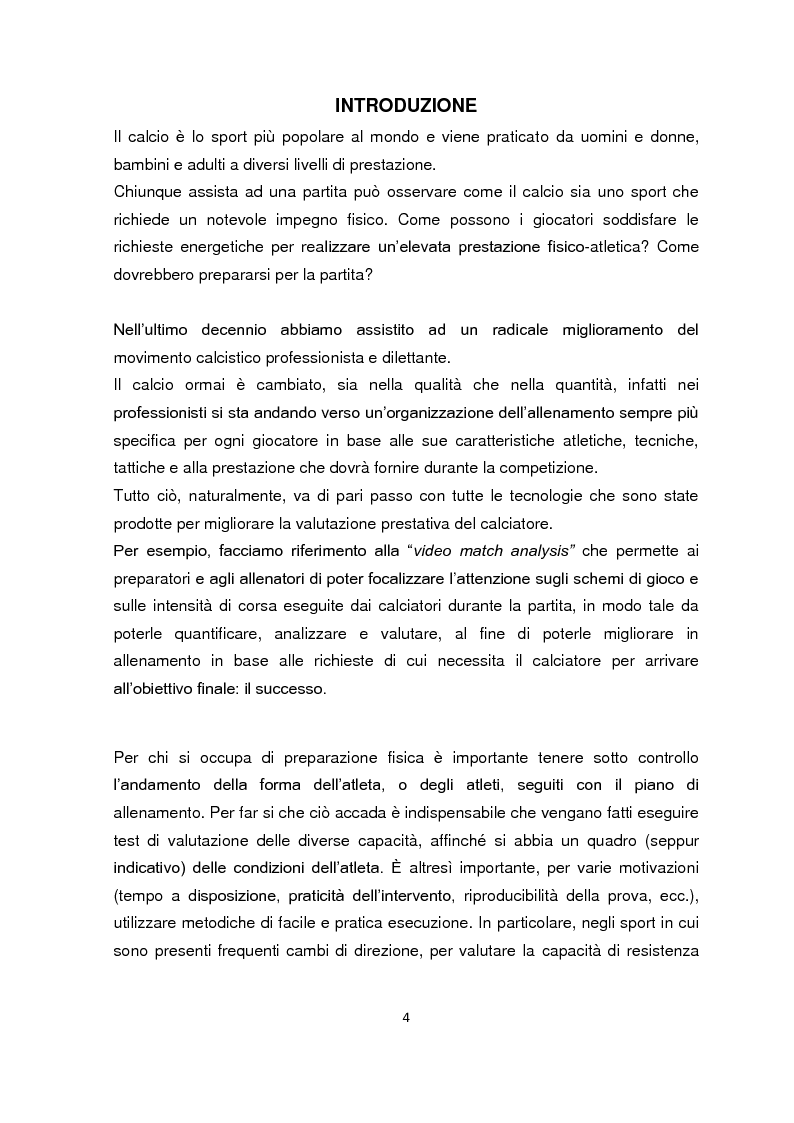 Anteprima della tesi: La valutazione della resistenza nel calciatore dilettante: confronto fra due test da campo, Pagina 2
