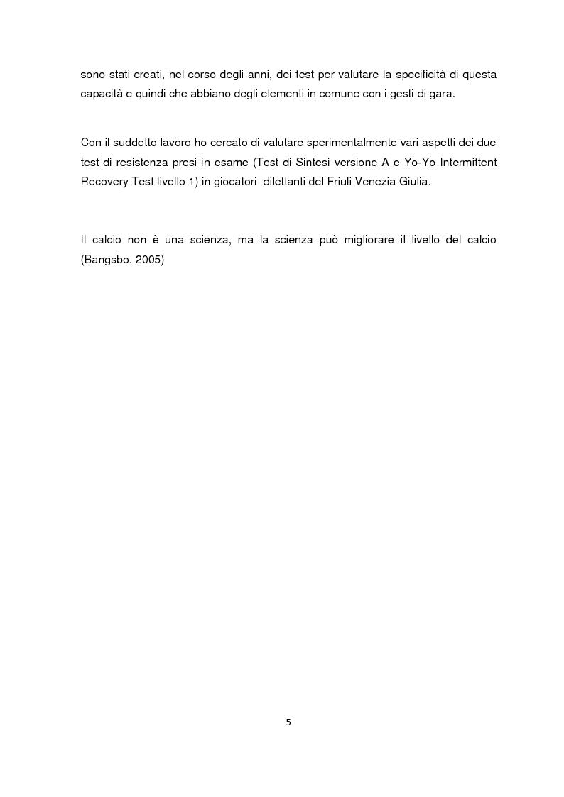 Anteprima della tesi: La valutazione della resistenza nel calciatore dilettante: confronto fra due test da campo, Pagina 3