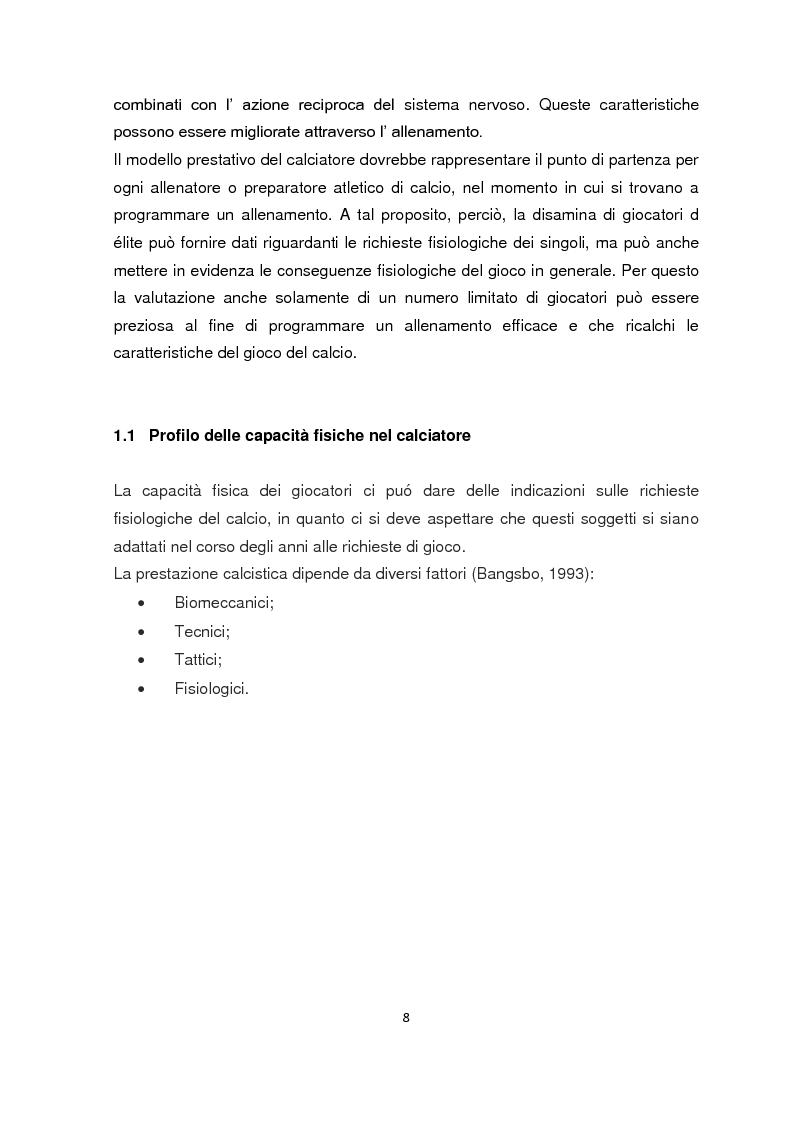 Anteprima della tesi: La valutazione della resistenza nel calciatore dilettante: confronto fra due test da campo, Pagina 5