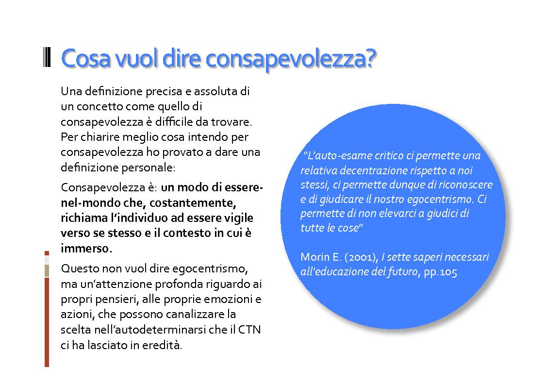 Anteprima della tesi: Il ruolo della consapevolezza nella scuola, Pagina 9