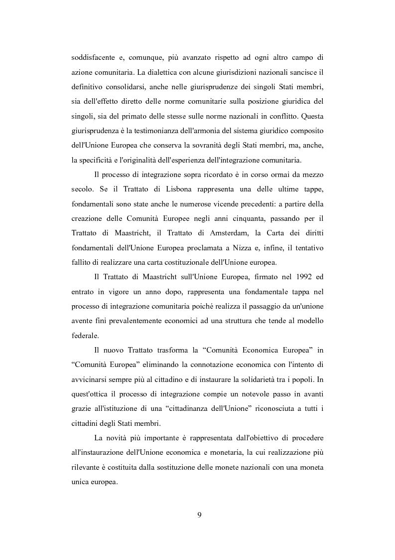 Anteprima della tesi: Il Regolamento ''Roma I'' nella giurisprudenza della Corte di Giustizia, Pagina 8
