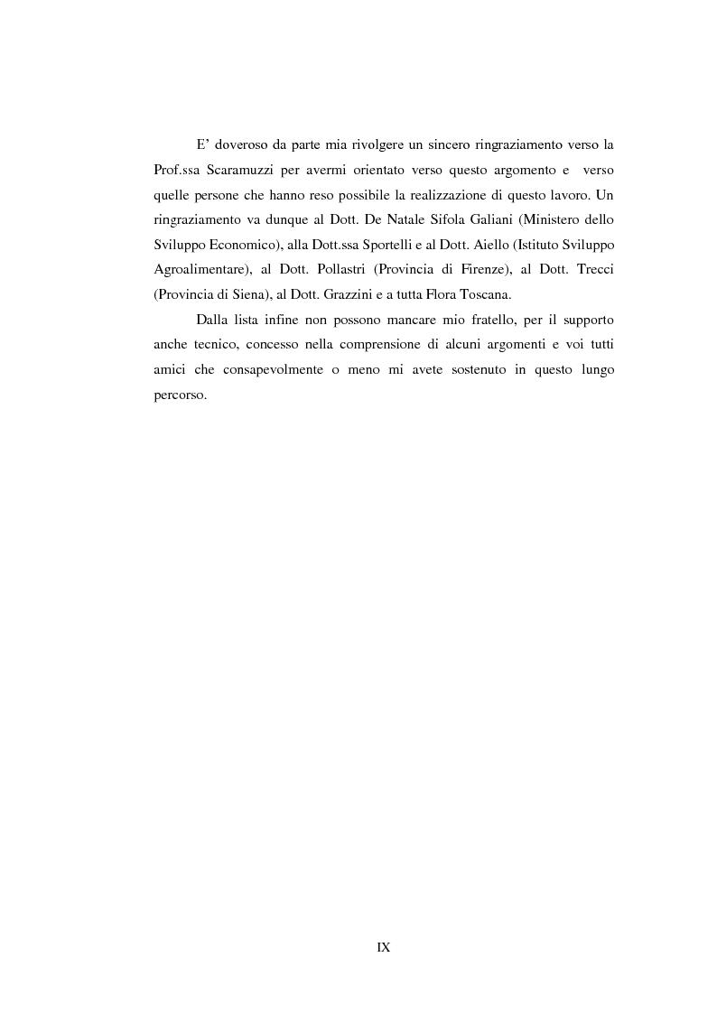 Anteprima della tesi: Opportunità e vincoli per il finanziamento pubblico all'agroindustria in Toscana. Il caso della misura 123a del Piano di Sviluppo Rurale , Pagina 5