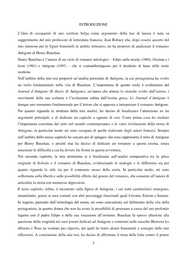 Anteprima della tesi: L'Antigone di Bauchau, Pagina 2
