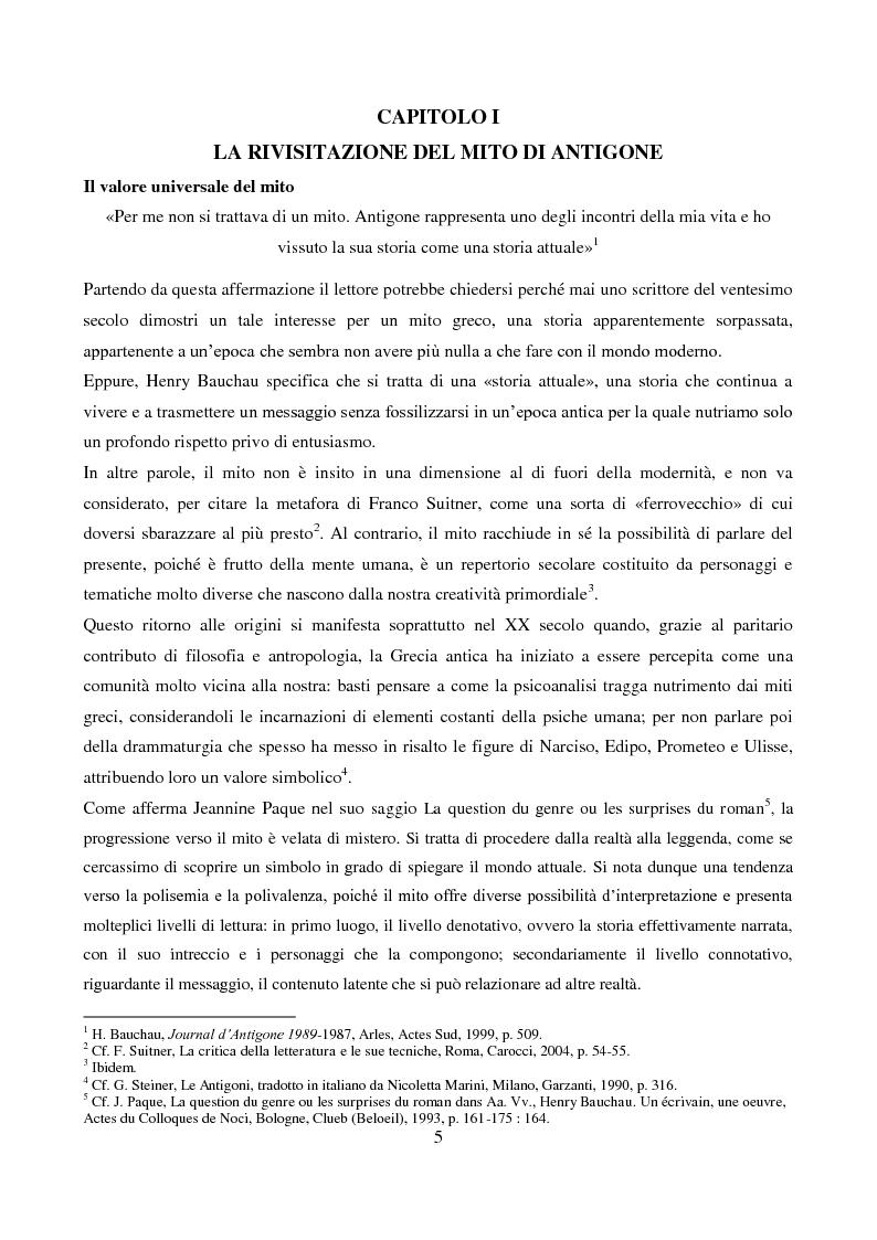 Anteprima della tesi: L'Antigone di Bauchau, Pagina 4