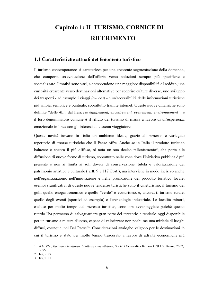Anteprima della tesi: Promozione dei centri minori e turismo internazionale. Il caso di Monza e Brianza., Pagina 4