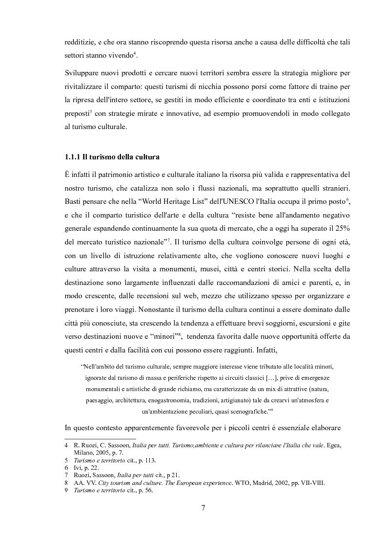 Anteprima della tesi: Promozione dei centri minori e turismo internazionale. Il caso di Monza e Brianza., Pagina 5