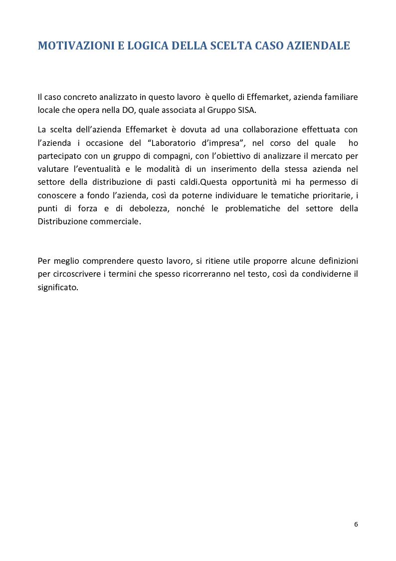 Anteprima della tesi: Le PMI locali e il mercato della distribuzione. Il caso Effemarket, Pagina 2