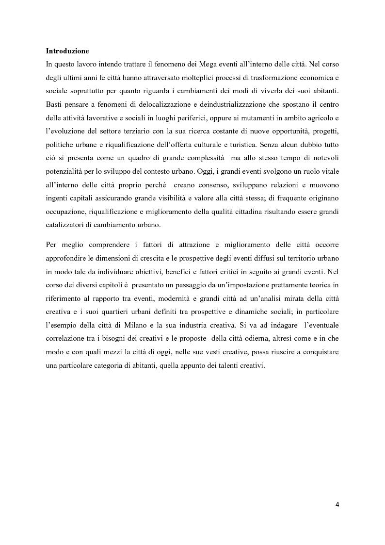 Anteprima della tesi: Mega eventi e grandi città: il Fuorisalone nel quartiere Tortona, Pagina 2