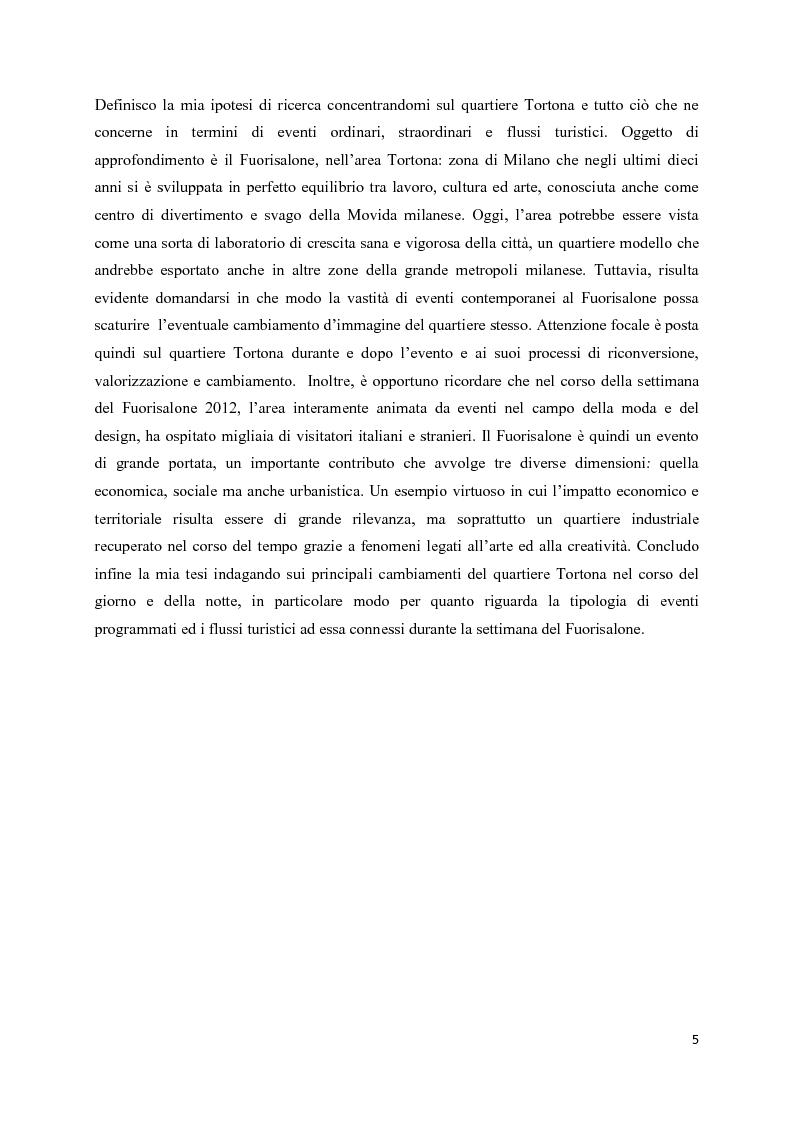 Anteprima della tesi: Mega eventi e grandi città: il Fuorisalone nel quartiere Tortona, Pagina 3