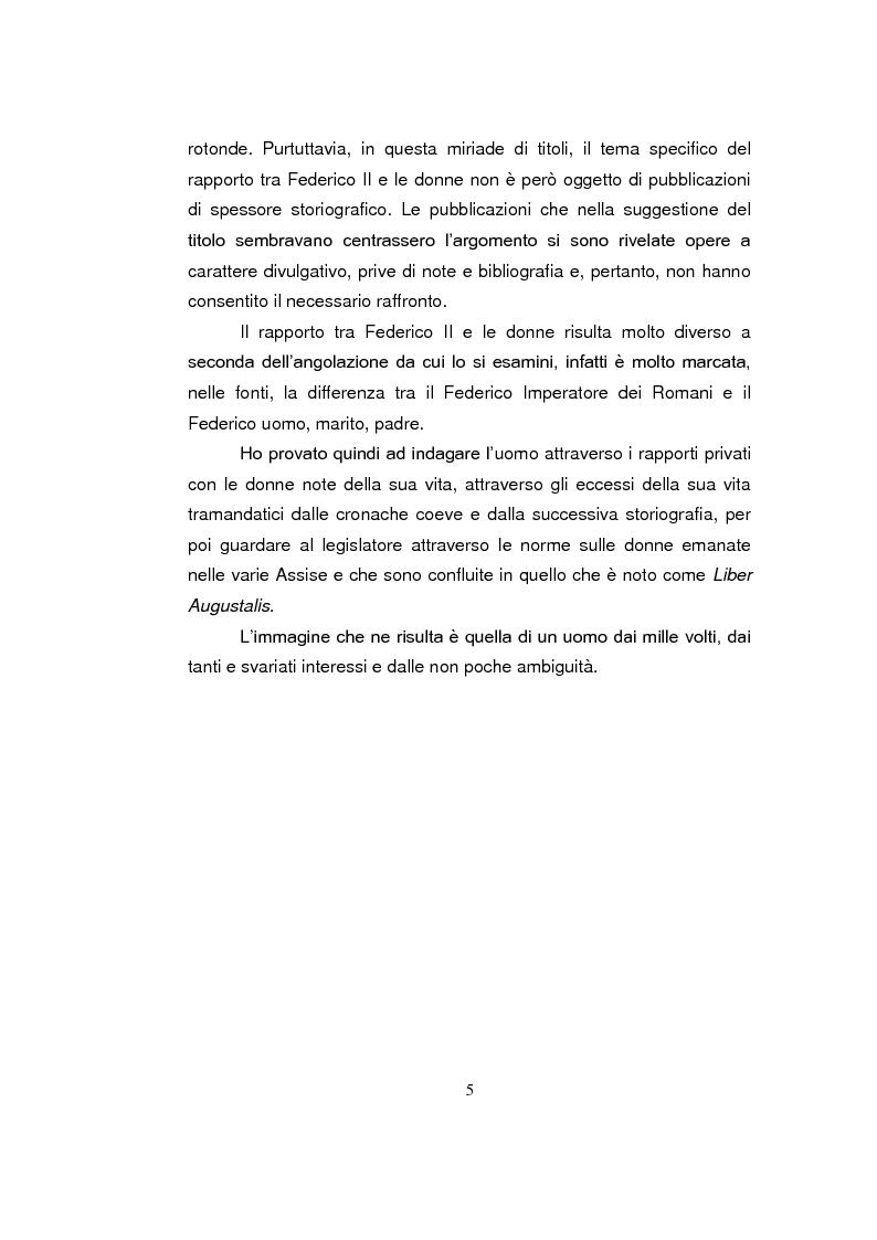 Anteprima della tesi: Federico II e le donne: il silenzio delle fonti e la storiografia, Pagina 3