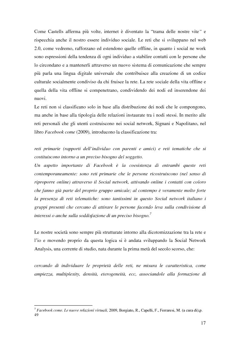 Anteprima della tesi: Attraverso Facebook. Un'indagine empirica, Pagina 13
