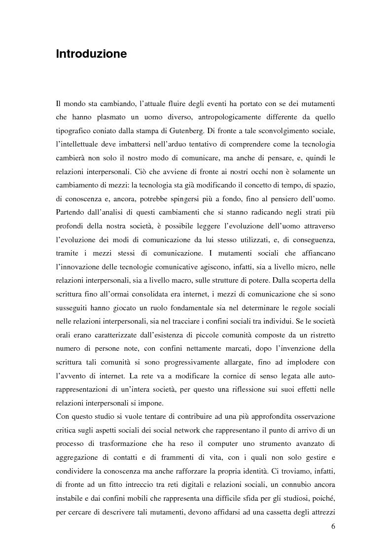 Anteprima della tesi: Attraverso Facebook. Un'indagine empirica, Pagina 2