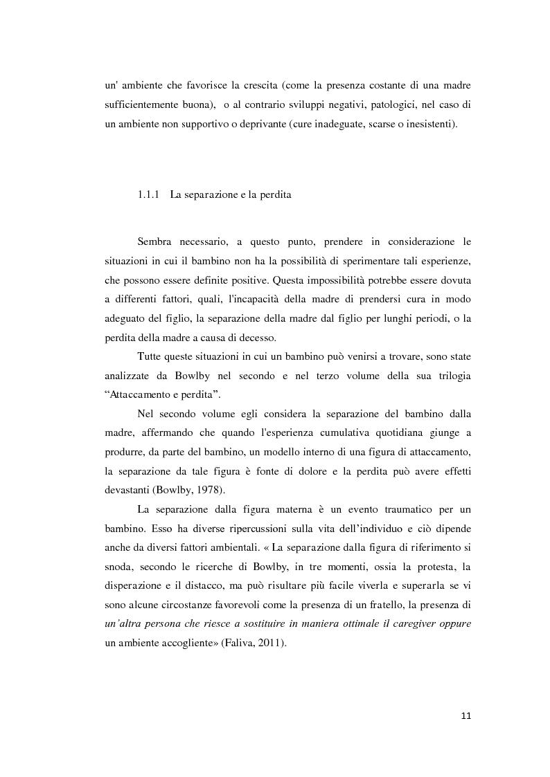 Anteprima della tesi: Lo sviluppo della narrazione e della memoria autobiografica alla luce della Teoria dell'Attaccamento, Pagina 12