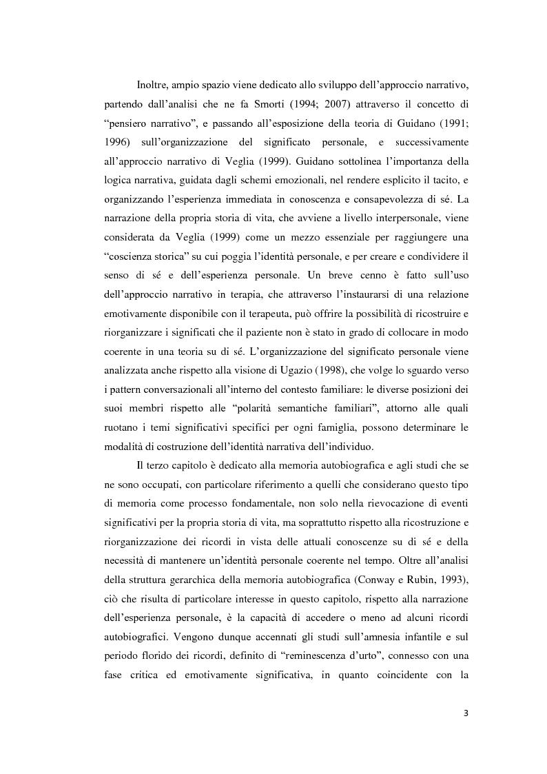 Anteprima della tesi: Lo sviluppo della narrazione e della memoria autobiografica alla luce della Teoria dell'Attaccamento, Pagina 4