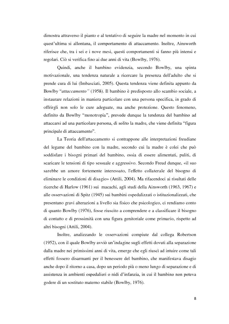 Anteprima della tesi: Lo sviluppo della narrazione e della memoria autobiografica alla luce della Teoria dell'Attaccamento, Pagina 9