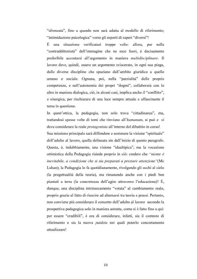Anteprima della tesi: L'adulto e il lavoro, Pagina 9