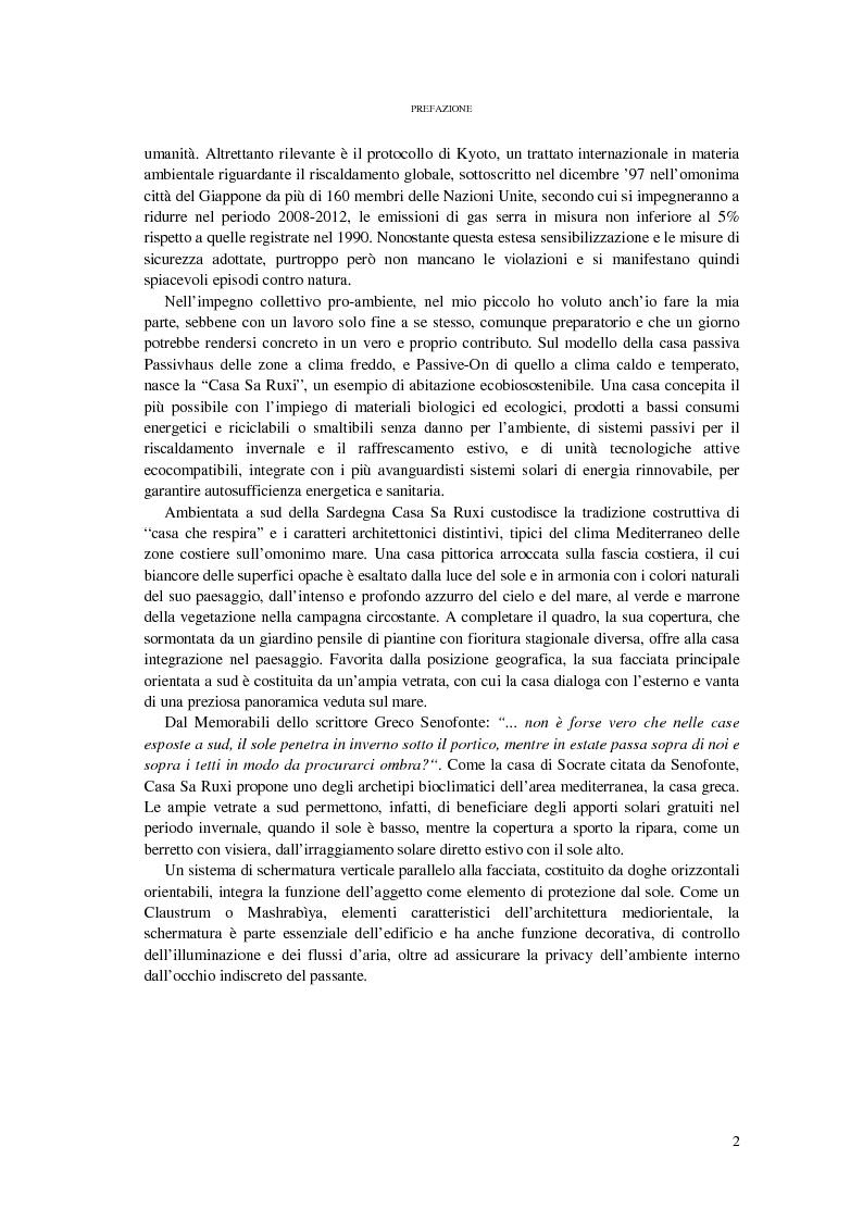 Anteprima della tesi: CASA SA RUXI - Abitazione sostenibile in zona a clima mediterraneo, Pagina 3