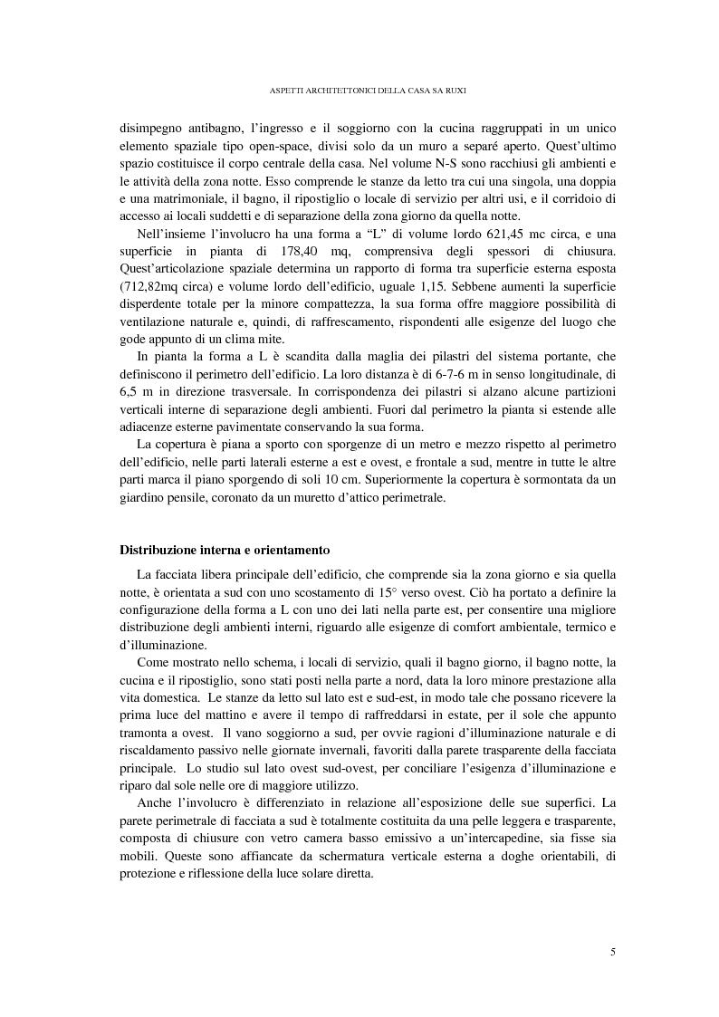 Anteprima della tesi: CASA SA RUXI - Abitazione sostenibile in zona a clima mediterraneo, Pagina 6