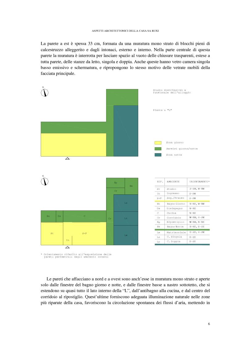 Anteprima della tesi: CASA SA RUXI - Abitazione sostenibile in zona a clima mediterraneo, Pagina 7