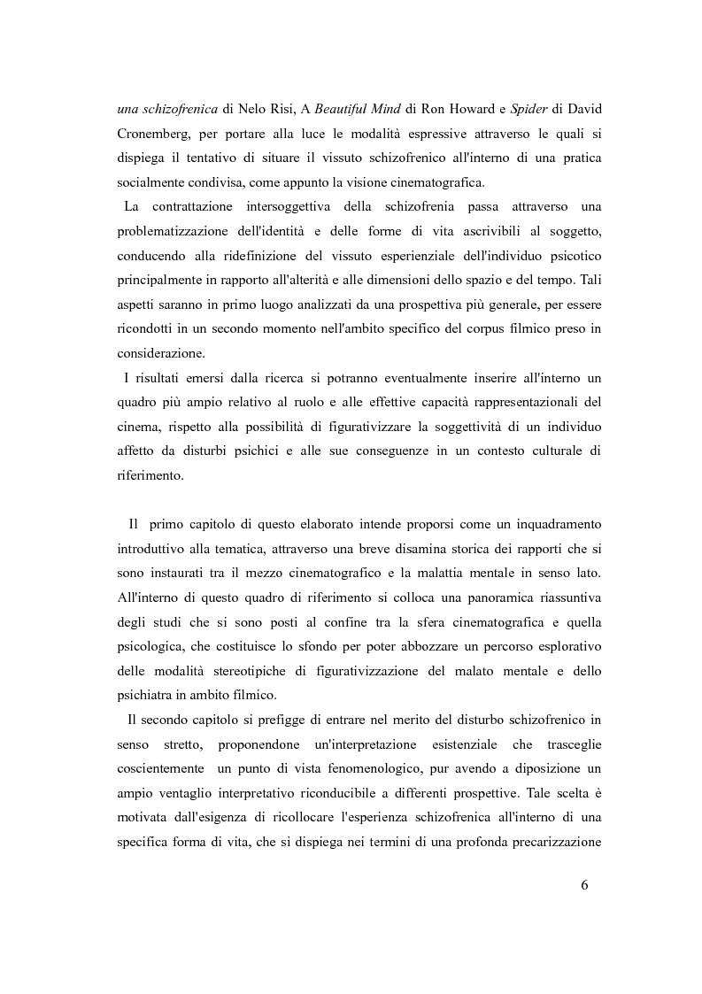 Anteprima della tesi: Psicosi con-divisa: la soggettivazione filmica della schizofrenia, Pagina 3