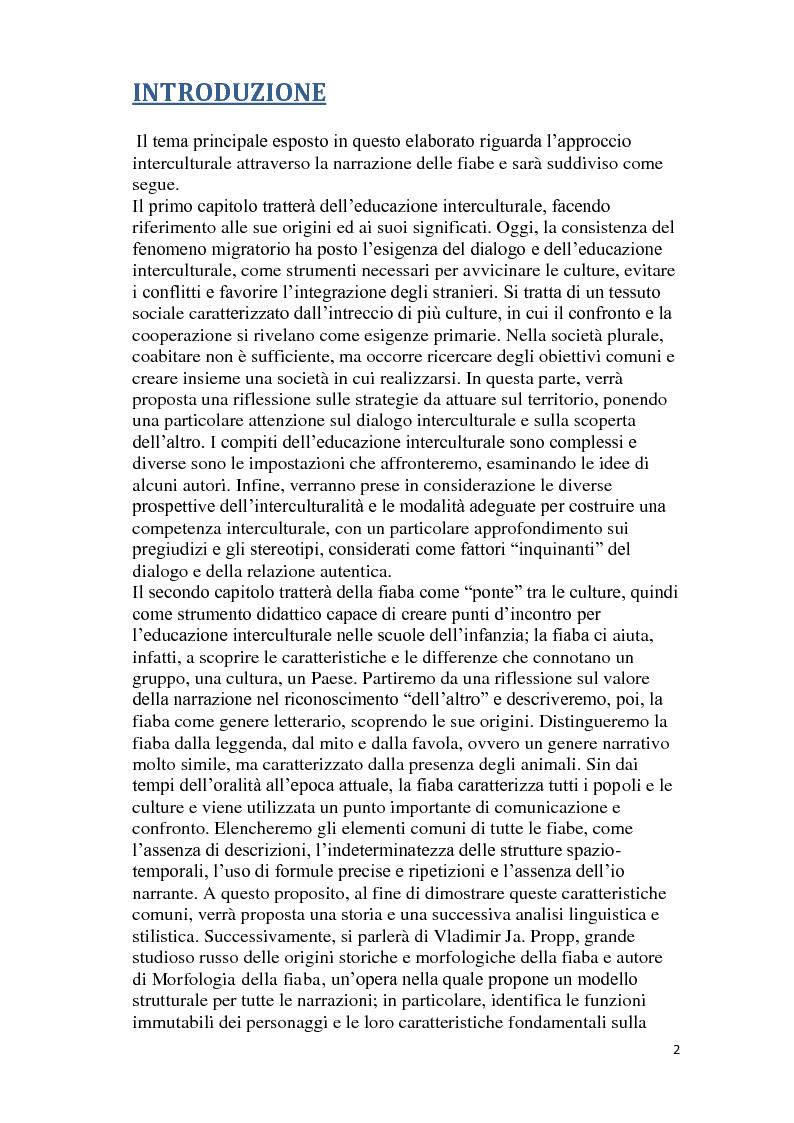 Anteprima della tesi: C'era una volta la fiaba. La narrazione come strumento interculturale nella scuola dell'infanzia., Pagina 2
