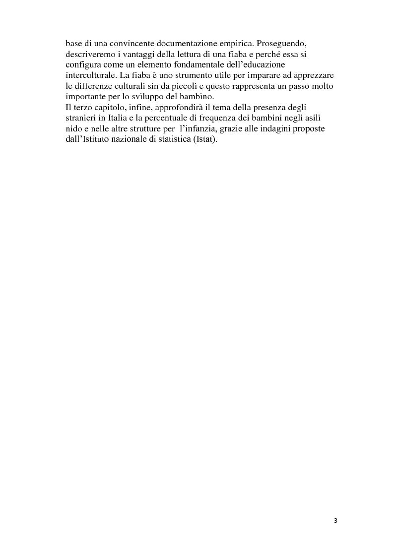 Anteprima della tesi: C'era una volta la fiaba. La narrazione come strumento interculturale nella scuola dell'infanzia., Pagina 3