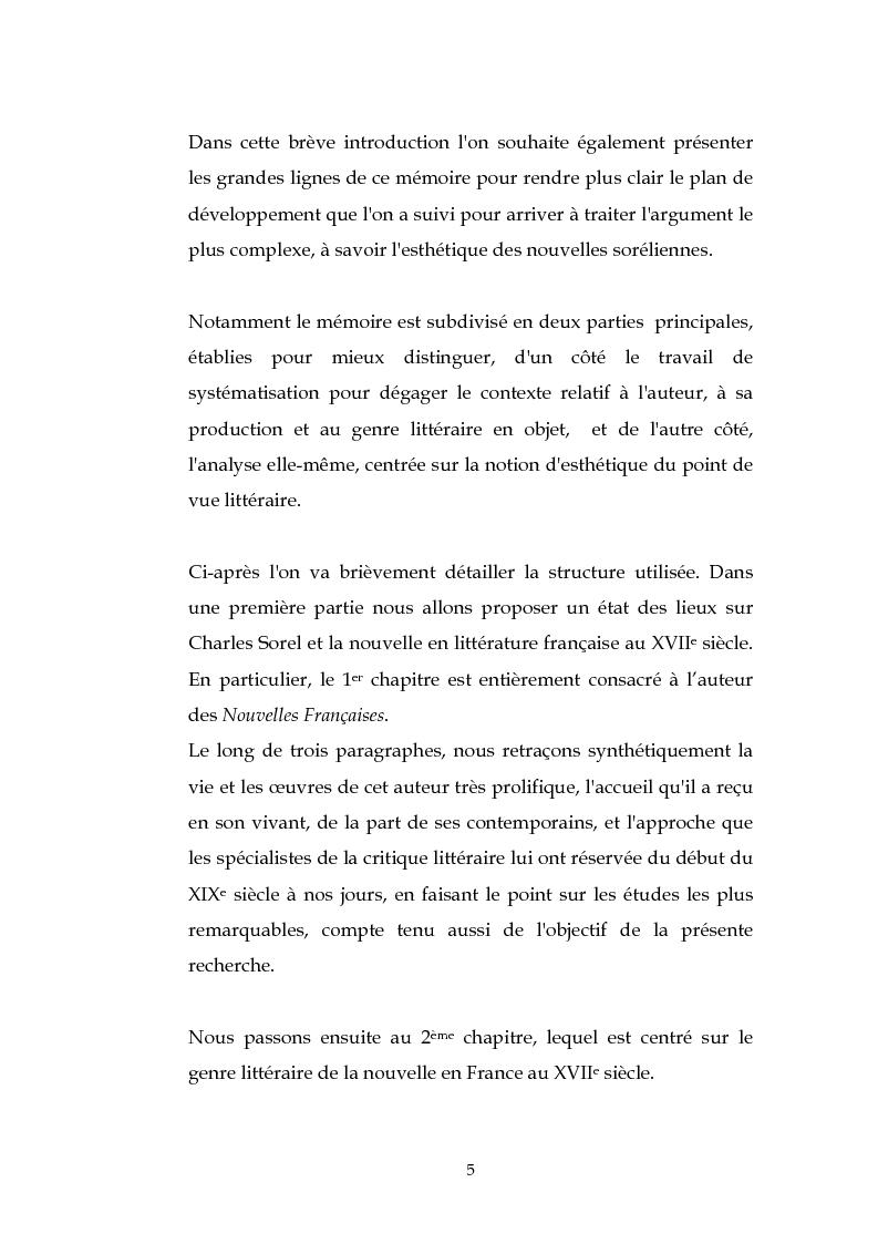 Anteprima della tesi: L'esthétique des Nouvelles Françaises de Charles Sorel, Pagina 4