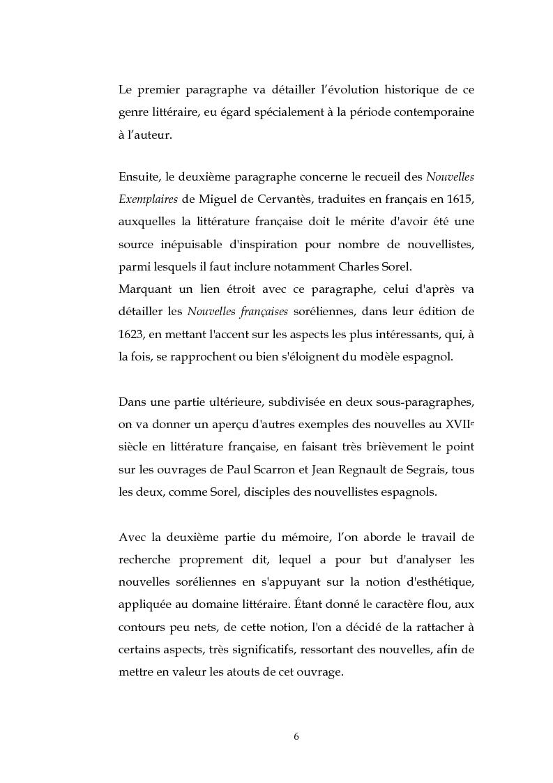 Anteprima della tesi: L'esthétique des Nouvelles Françaises de Charles Sorel, Pagina 5
