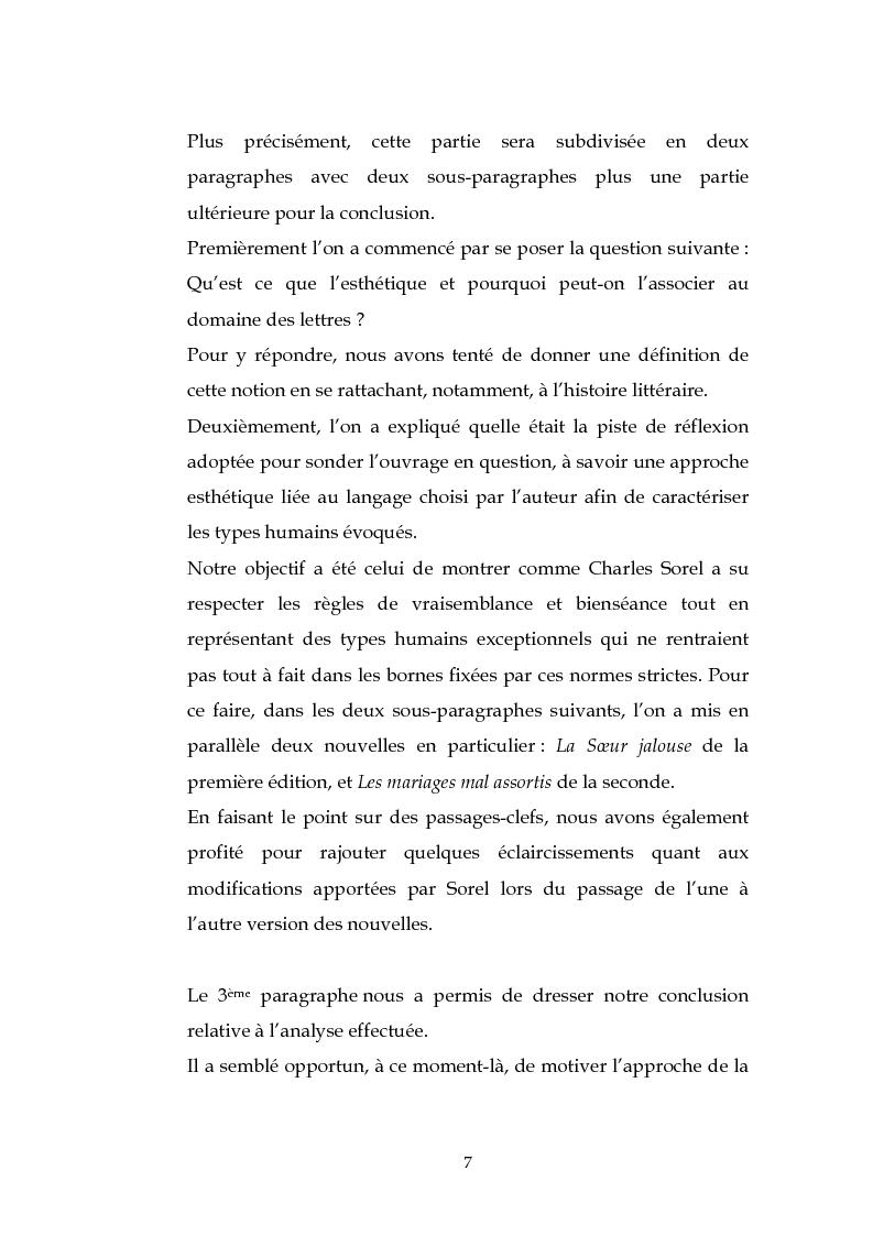 Anteprima della tesi: L'esthétique des Nouvelles Françaises de Charles Sorel, Pagina 6