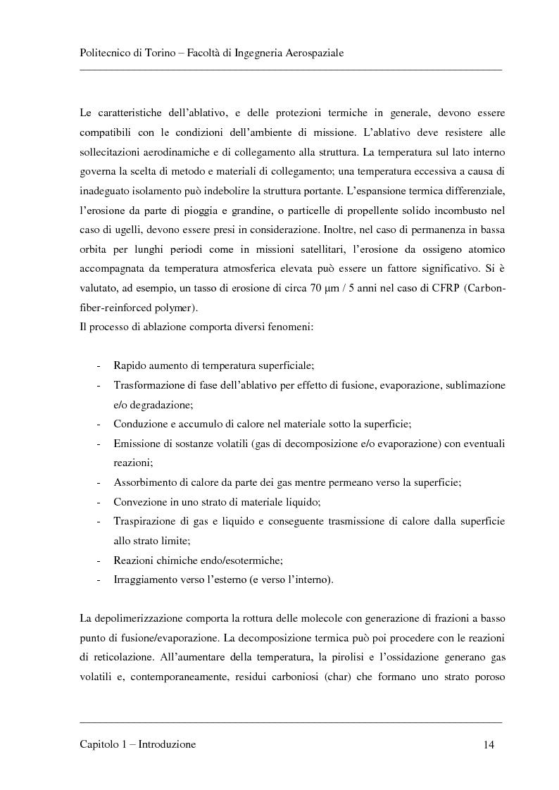 Anteprima della tesi: Modellizzazione dei fenomeni di ablazione superficiale di scudi termici per veicoli di rientro, Pagina 10