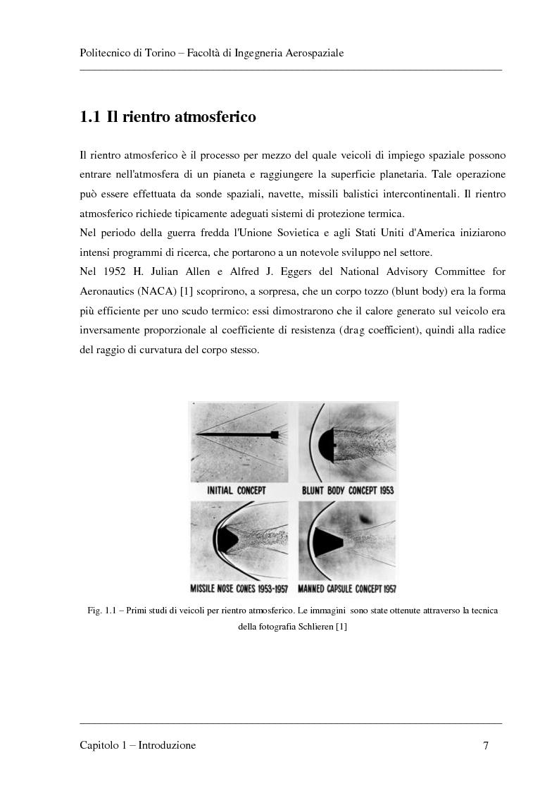 Anteprima della tesi: Modellizzazione dei fenomeni di ablazione superficiale di scudi termici per veicoli di rientro, Pagina 3